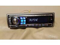 CAR HEAD UNIT ALPINE CDE 9850Ri CD MP3 PLAYER IPOD READY RCA 4 x 50 WATT AMP STEREO