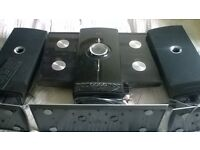 ILuv hi-fi stereo speaker system 4 CD,radio and iphone dock plus remote in good working condition