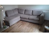 CORNER SOFA ..JOHN LEWIS.. EX CONDITION..FOAM FILLED CUSHIONS PRICED TO SELL