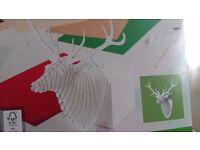 Cardboard Reindeer Trophy 3D Wall Art Hanging