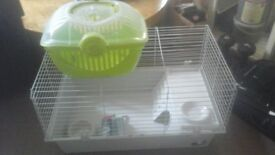 Guinea pig cage Ferplast and transport box