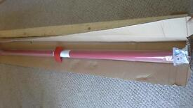 Large Roller Blind, brand new. Colour is red with a hint of orange. 227cm wide