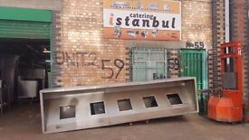 Stainless Steel Canopy With 5 Filtre COMPARTMENT 400CM USED