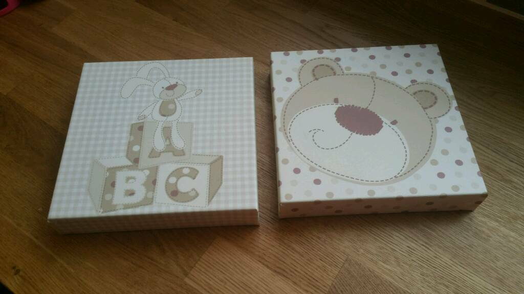 2 CANVASES FOR A BABY ROOM