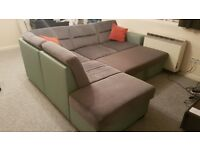 Sofa L-Shaped with Pullout Double Bed
