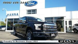 2016 Ford F-150 SUPER CREW LARIAT*CHROME*502A*4X4 3.5L V6 ECO