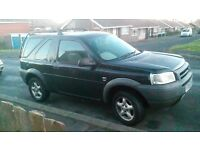 freelander td4, black, tinted windows,5xalloys,10 month mot, mustgo,117k,