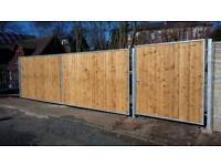 Gates railings wooden infill all sizes