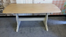 intage Ercol Solid Oak Refectory Style Dining Table