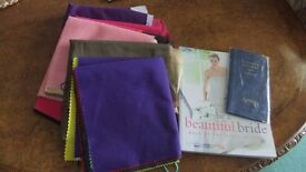 Colour analysis drapes, CMB beautiful bride book and Spring Wallet