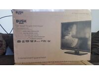 "Boxed , 24"" Smart, Built in freeview and dvd player,Wifi, LED, several HDMI and USB ports Bush TV"