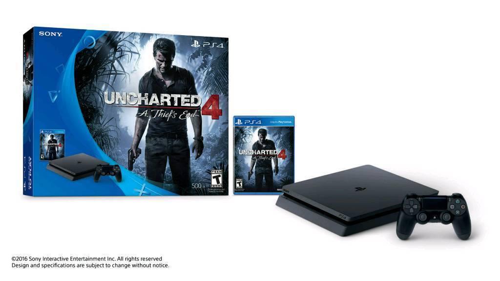 Playstation 4 slim bundle. New. Swaps