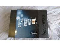 Genuine Nespresso Recipe Latte Glasses by Nestle