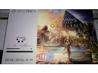 New Xbox One S Console - Assassins Creed game bundle 500Gb - 4K HD - like PS4
