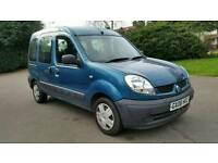 AUTOMATIC + 2008+ RENAULT KANGOO AUTHENTIQUE MPV 1598cc + BLUE+ MOT 2018+DISABLED WHEEL CHAIR ACCESS
