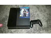 Ps4 1 controller uncharted 4 and Morden warfare for sale