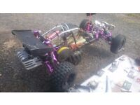 King motor baja , hpi clone , built not bought ! 80%hpi .. Full car minus engine .. ;-)