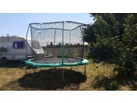 10ft diameter trampoline with net in full working order