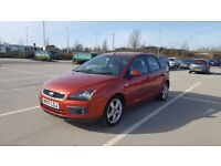 2007 FORD FOCUS 1.6 ZEETEC CLIMATE RED PETROL 5DR MANUAL*** BRAND NEW MOT***