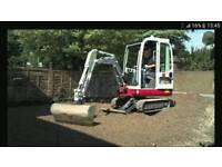 Mini digger hire&driver hire,I can do the work of 7 men
