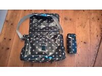 Cath Kidston changing bag with bottle storage