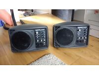 Mackie SRM150 x 2 Speakers