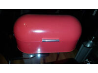 Red Tin Bread Bin from Next, rarely used and in good condition