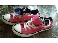 Girls pink converse size 1and a half.