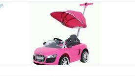 Kids pink Audi ride on