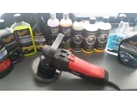 Car polisher with accessories
