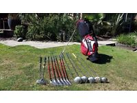 Graphite shafted Golf clubs in new bag