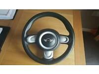 2013 Mini R56 3 spoke leather steering wheel