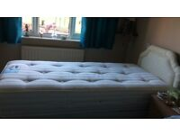 Single Bed with Orthopaedic Mattress & Headboard, Excellent Condition