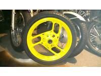 Hi, yamaha ypvs 350 rear wheel and tyre