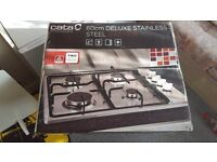 cata delux stainless steel gas hob with lpg