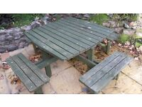 8 seater square picnic table
