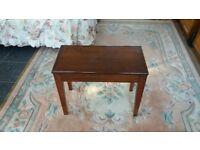 Dark brown piano stool