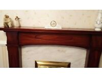 Solid teak fire surround *Immaculate condition*