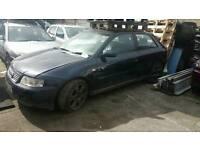 Audi a3 2001 1.8t blue silver breaking for parts