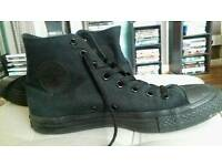 Black Converse High Tops Size 7.