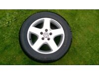 17'' VOLKSWAGEN ALLOY WHEELS 235/55 R17 to VW TRANSPORTER T5 T6 AMAROK TOUAREG with very good tyres