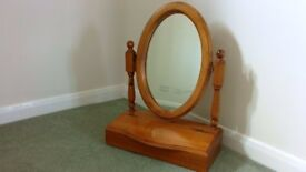 antique pine dressing table mirror and storage