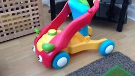 ELC wobble toddle ride on baby walker