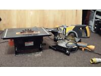 Mitre Saw and Band Saw