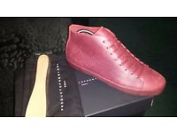 Pony, Product Of New York, Greenwich Hi Leather Oxblood Mono,Brand new Boxed, 8 UK