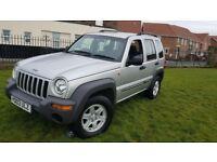 For sale Jeep Cherokee Sport 2.4 petrol full V5 11 months MOT nice condition inside outside