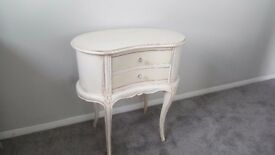 French kidney shaped small Table with drawers very pretty