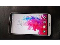 Unlocked White LG G3 D855 16gb plus extended Kranich 6000mAh battery