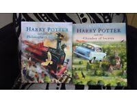 HARRY POTTER ILLUSTRATED BOOKS SET OF 4