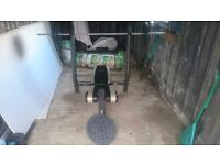 Marcy Wide Arm Pro Weight Bench with 60KG